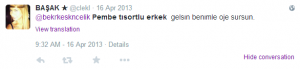 cinsiyetçilik 14 nisan twitter